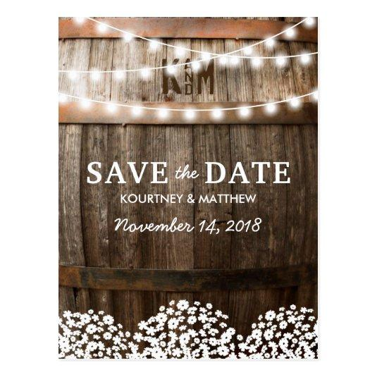 RUSTIC COUNTRY    STRING OF LIGHTS Cards