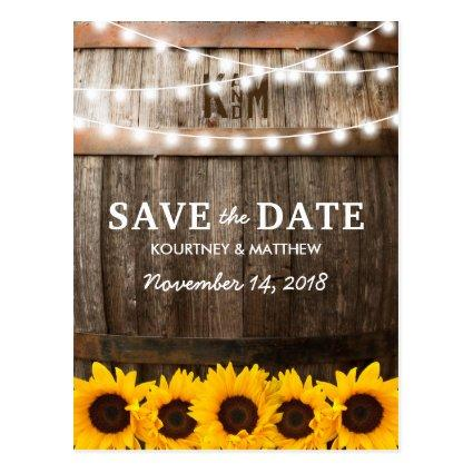 Rustic Country  | Sunflower Lights Cards