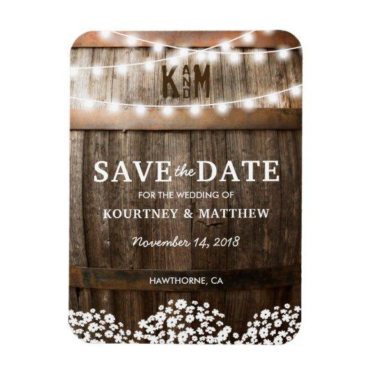 Rustic Country Wedding Fridge Save the Date Magnet