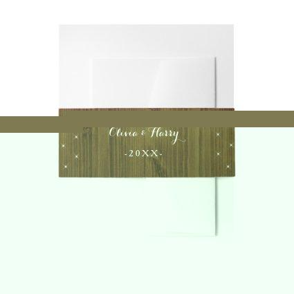 Rustic Country Wedding Invitation Belly Band