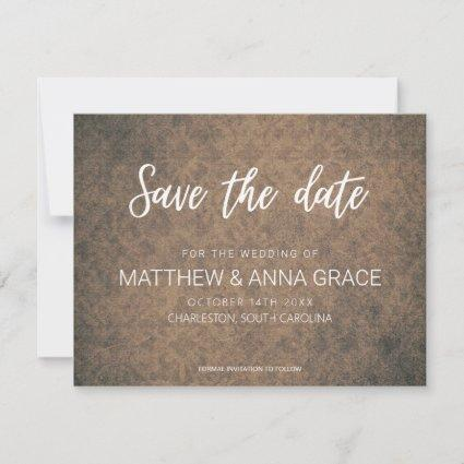 Rustic Damask Pattern Wedding Save The Date