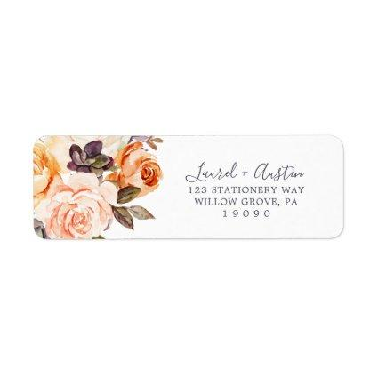 Rustic Earth Florals Return Address Label