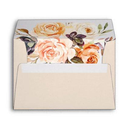 Rustic Earth Florals Wedding Invitation Envelope