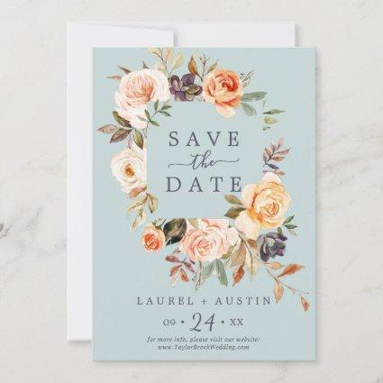 Rustic Earth | Mint Save the Date Announcement