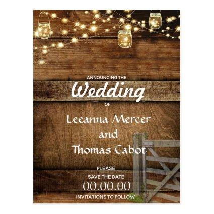 Rustic Farm Gate Save the Date Cards