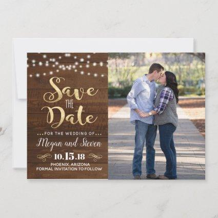Rustic Gold Save The Date