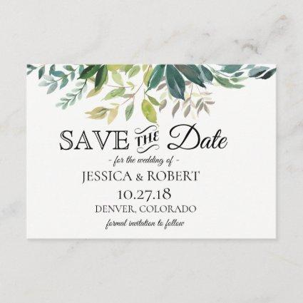 Rustic Greenery Bouquet Save The Date