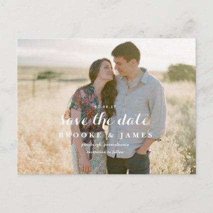 Rustic Greenery Wedding Save the Date Post Card