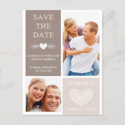Rustic Heart Doodles Save the Date Photo
