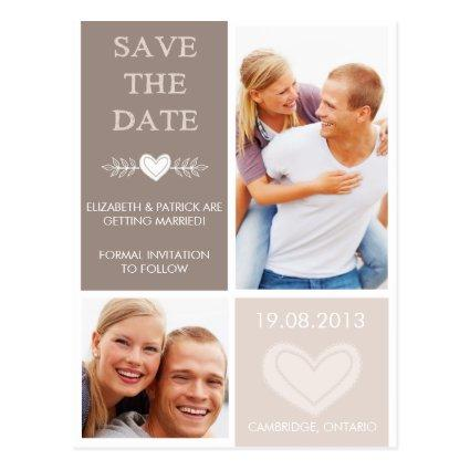 Rustic Heart Doodles  Photo Cards