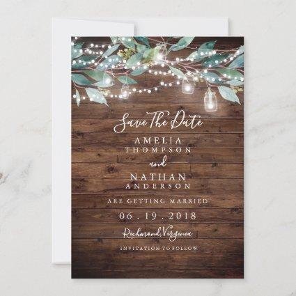 Rustic Leaf String Lights Save The Date