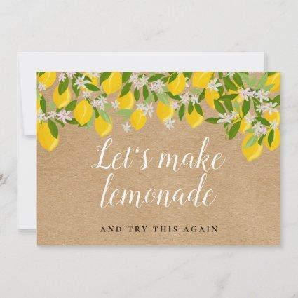 Rustic Lemons Change the Date Postponed Event Save The Date