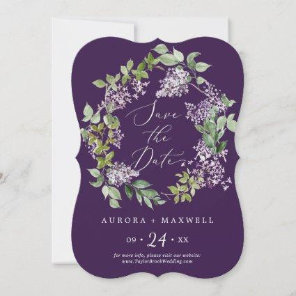Rustic Lilac | Purple Wedding Save The Date