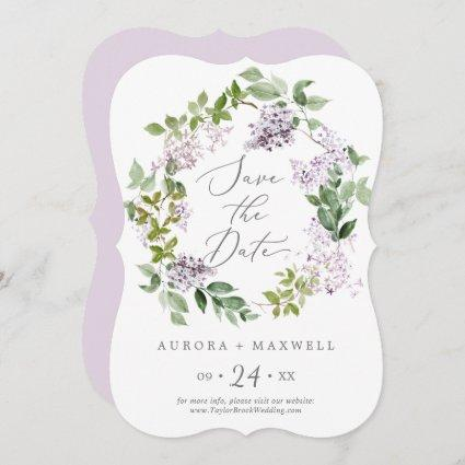 Rustic Lilac Wedding Save The Date