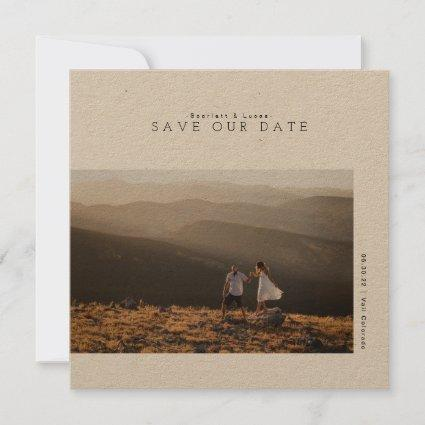 Rustic Modern Minimalist | Wedding Date Save The Date