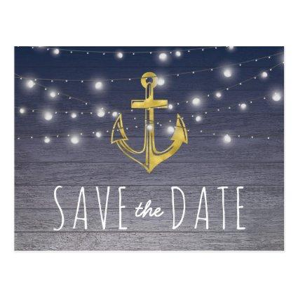Rustic Nautical Blue Gold Party