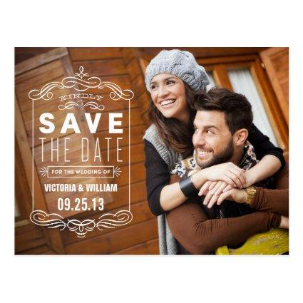 RUSTIC OVERLAY | SAVE THE DATE ANNOUNCEMENT