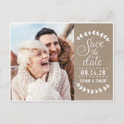 Rustic Photo Save the Date Cards
