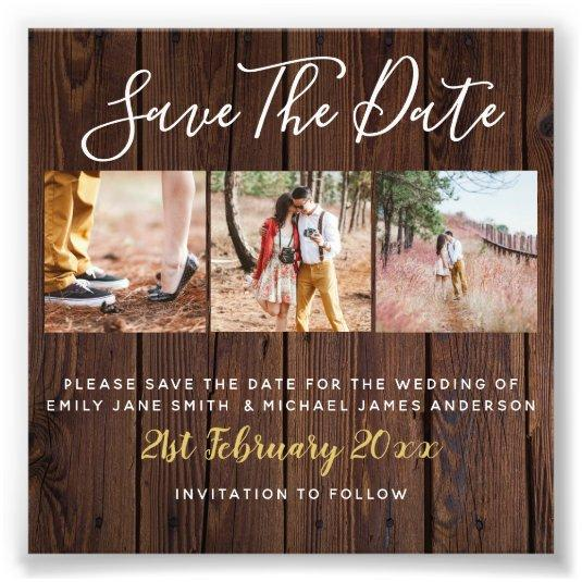 Rustic PHOTO Save the Date Wedding Bargain Budget