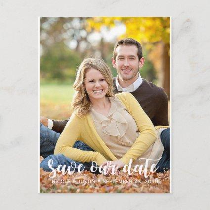 Rustic Photo Wedding Save the Date Card