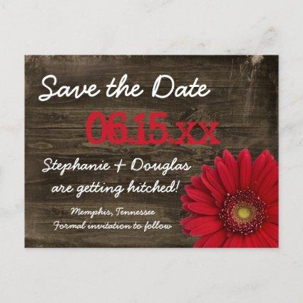 Rustic Red Daisy Wood s