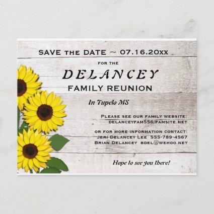Rustic Save the Date Family Reunion