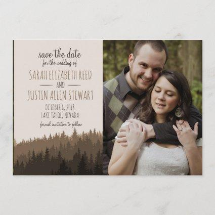 Rustic Save the Date for a Mountain wedding