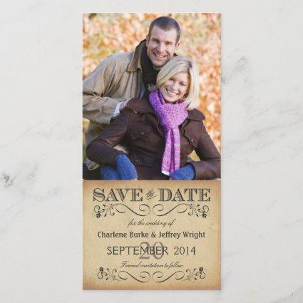 Rustic Save the Date Wedding Photo