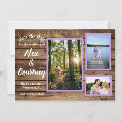 Rustic Save the Dates Thank You Cards