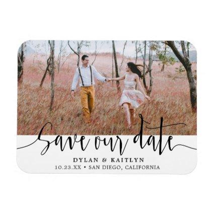 Rustic Script Magnets Save the Date