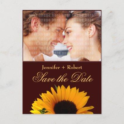 Rustic Sunflower Save the Date Announcement