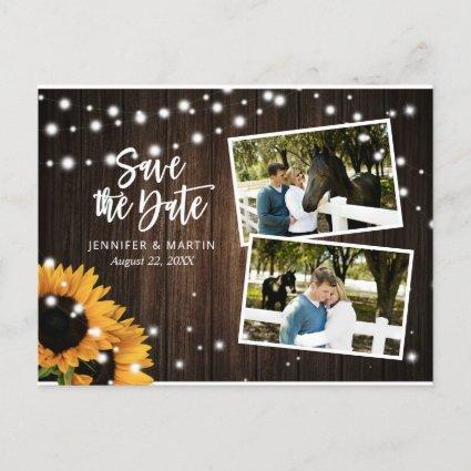 Rustic Sunflower Save The Date Photo s