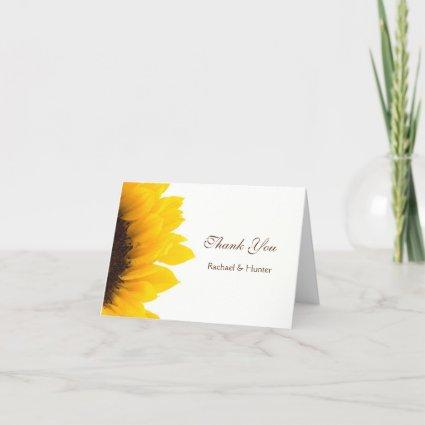 Rustic Sunflower Wedding Thank you Cards