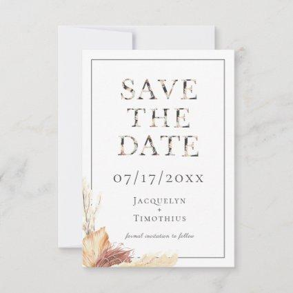 Rustic Typography Wedding Save The Date Card