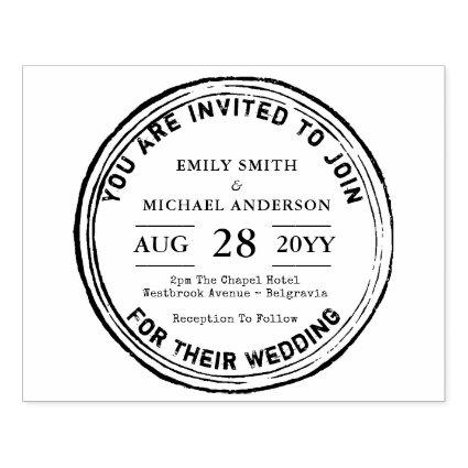 Rustic Wedding Invitation INK Stamp Trending 2018