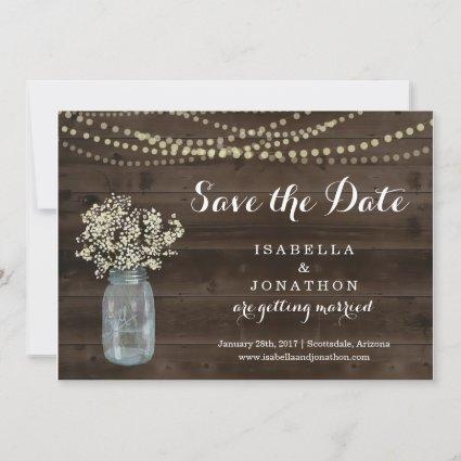 Rustic Wedding Save the Date Announcement