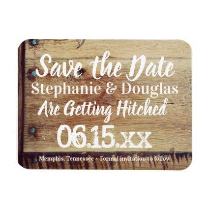 Rustic Wedding Save the Date Flexible Magnets