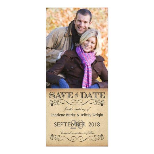 Rustic Wedding Save the Date Magnetic Photo Invite Magnetic Invitations