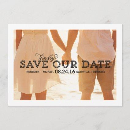 Rustic Whimsy | Photo Save the Date