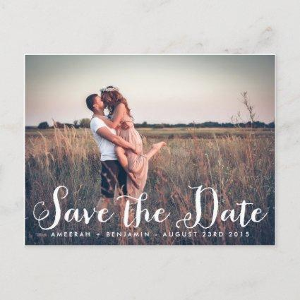 Rustic Whimsy Photo Save the Date Cards