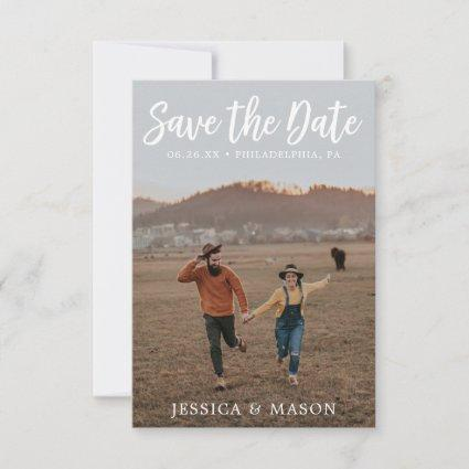 Rustic White Save the Date Card - Save The Dates