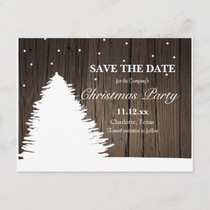 Rustic Wood Christmas Tree | Winter Holiday Party Announcement