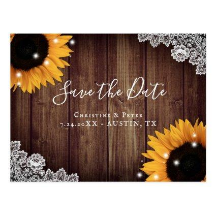 Rustic Wood Lace Sunflower s