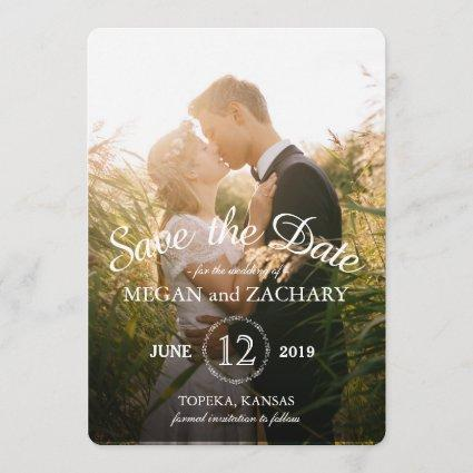 Rustic Wood Photo Custom Wedding Save the Date