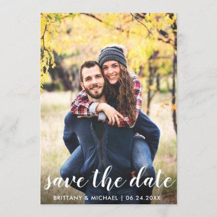 Rustic Wood Save The Date Engagement Announcements