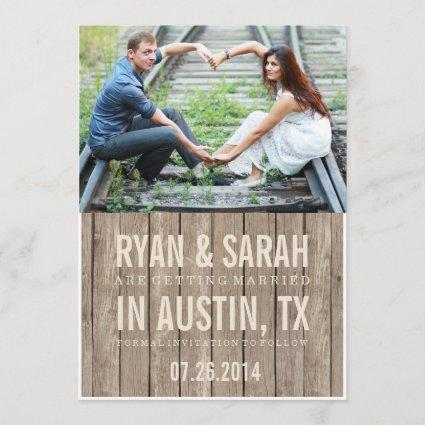 RUSTIC WOOD SAVE THE DATES SAVE THE DATE