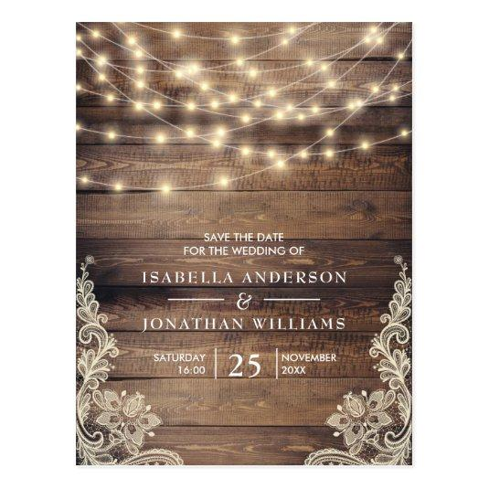 Rustic Wood & String Lights | Lace