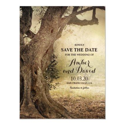 Rustic Woodland Themed Wedding Save The Date Magnetic Invitation