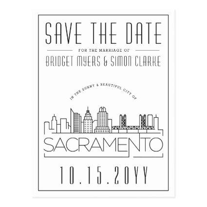 Sacrament Wedding | Stylized Skyline
