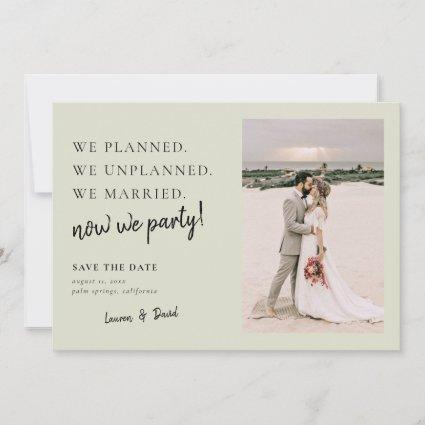 Sage Green Post Wedding Update Save the Date